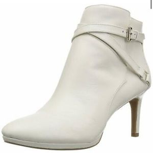 Once Worn Bandolino White Booties